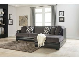 Signature Design by Ashley Benchcraft Collection 2-Piece Left Arm Facing Fabric Sectional in Smoke 32202S1