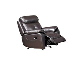 Kwality Nathan brown reclining leather-match chair 3306