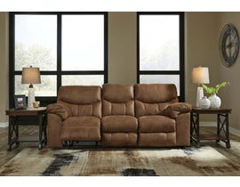 Signature Design by Ashley Power Reclining Sofa in Bark 3380287
