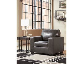 Signature Design by Ashley Morelos Series Leather Chair in Grey 3450320