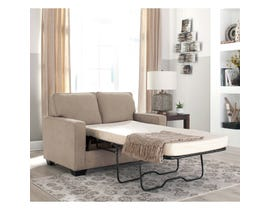 Signature Design by Ashley Zeb Series Twin Sofa Sleeper Quartz finish 3590237