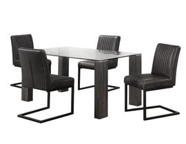 Chateau 5pc Dining Set in Antique Black 3599DTI