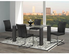Chateau Imports 5-Piece Metal Dining Set in Black 3599