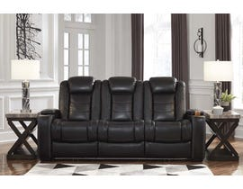 Signature Design by Ashley Power Reclining Sofa in Midnight 3700315