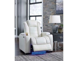 Signature Design by Ashley Party Time Power Recliner in White 3700413