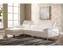 Signature Design by Ashely Tindell Series 2-PC LAF Corner Chaise Sectional Set in white 3730516-56