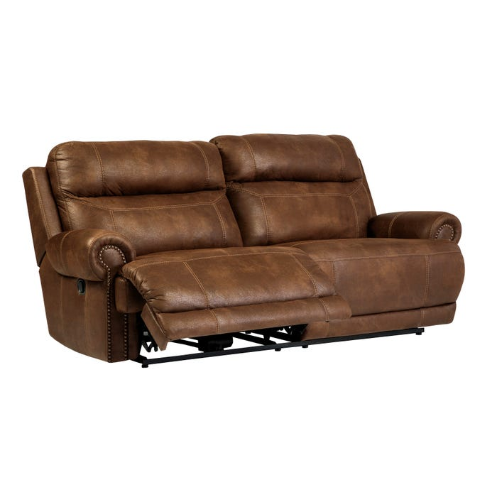Signature Design by Ashley Austere leather look 2-Seat Reclining Sofa in  brown 3840081