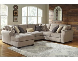 Benchcraft by Ashley 4-Piece Sectional with Chaise in Driftwood 39102S2