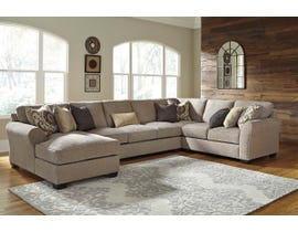 Benchcraft by Ashley 4-Piece Sectional with Chaise in Driftwood 39102S3