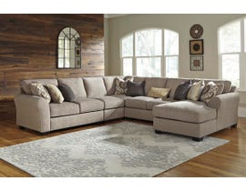 Signature Design by Ashley Pantomine Series RAF Corner Chaise Sectional in Driftwood 39102