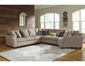 Benchcraft by Ashley 5-Piece Sectional with Cuddler in Driftwood 39102S5