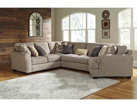 Benchcraft by Ashley 4-Piece Sectional with Cuddler in Driftwood 39102S7