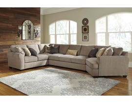 Benchcraft by Ashley 4-Piece Sectional with Cuddler in Driftwood 39102S9