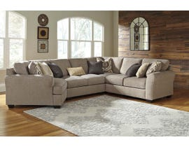 Benchcraft by Ashley 4-Piece Sectional with Cuddler in Driftwood 39102S11