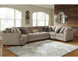 Benchcraft by Ashley 4-Piece Sectional with Cuddler in Driftwood 39102S12