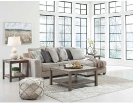 Signature Design by Ashley Ardsley Series 2pc Fabric Sectional in Pewter 39504-55-17