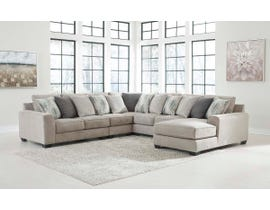 Signature Design by Ashley Ardsley Series 5pc Fabric Sectional in Pewter 39504-55-46-77-34-17