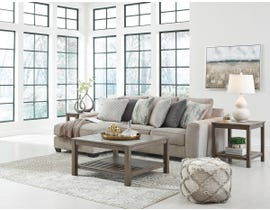 Signature Design by Ashley Ardsley Series 2pc Fabric Sectional in Pewter 39504-16-56