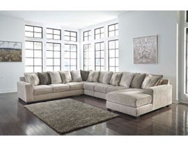 Signature Design by Ashley Ardsley Series 5pc Fabric Sectional in Pewter 39504-66-77-46-34-17