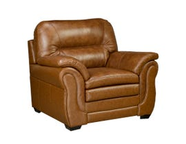 Sofa By Fancy Andrew Collection Leather-Air Chair in Neptune Brown Umber 4000-1