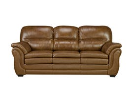 Sofa By Fancy Andrew Collection Leather-Air Sofa in Neptune Brown Umber 4000-1