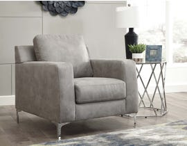 Signature Design by Ashley Ryler Collection Fabric Chair in Steel 40201