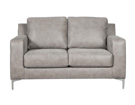 Signature Design by Ashley Ryler Collection Fabric Loveseat in Steel 40201