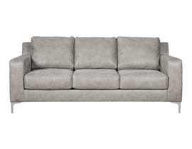 Signature Design by Ashley Ryler Series Faux Leather Sofa in Steel 4020138