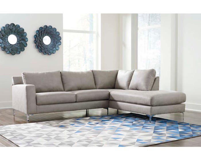 hot sale online 32692 95b24 Signature Design by Ashley RAF Corner Chaise Sectional in Steel 402117-66