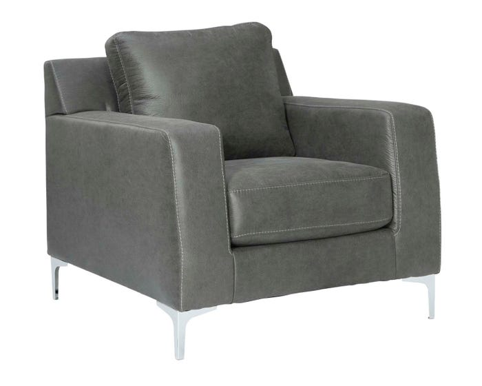 Superb Signature Design By Ashley Ryler Series Faux Leather Chair In Charcoal 4020320 Alphanode Cool Chair Designs And Ideas Alphanodeonline