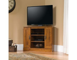 Sauder Harvest Mill Corner Entertainment Stand in Abbey Oak 404962