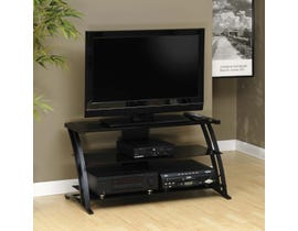 Sauder Deco Collection Panel TV Stand in Black 408559
