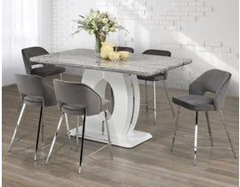 Brassex 7 Piece Counter Set in White/Grey 4089