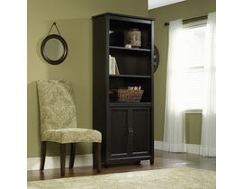 Sauder Edge Water Collection Black Book Shelf With Doors 409046