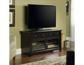 Sauder Edge Water Collection Panel TV Stand in Estate Black 409047