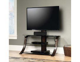 Sauder Veer Collection Panel Tv Stand With TV Mount in Seasoned Cherry 413906