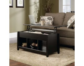 Sauder Edge Water Collection Lift Top Coffee Table in Estate Black 414856