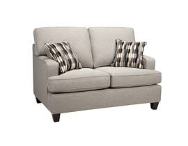 Sofa by Fancy Krysta Fabric Love seat in Dove Grey 4150