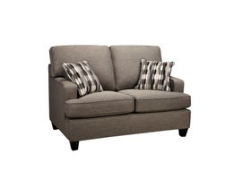 Sofa by Fancy Krysta Fabric Love seat in Coffee Brown 4150