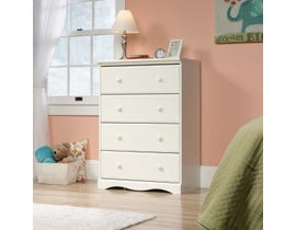 Sauder Pogo Collection 4-Drawer Chest in Soft White 416532