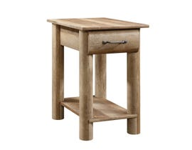 Sauder Boone Mountain Collection Side Table in Craftsman Oak 416561