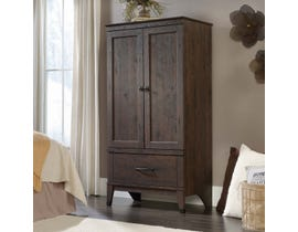 Sauder Carson Forge Collection Armoire in Coffee Oak 419079