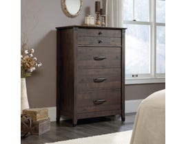 Sauder Carson Forge Collection Chest in Coffee Oak 419081