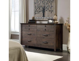 Sauder Carson Forge Collection Dresser in Coffee Oak 419082