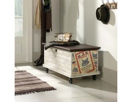 Sauder Eden Rue Collection Rolling Chest in White Plank 419590