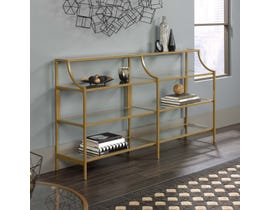 Sauder International Lux Collection Console Table in Satin Gold 421433
