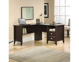 Sauder Shoal Creek Collection L-Desk in Jamocha Wood 422191