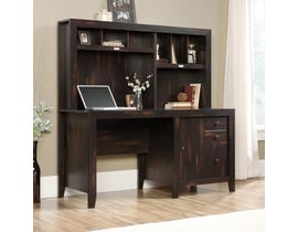 Sauder Dakota Pass Collection Computer Desk with Hutch in Char Pine A2 422597