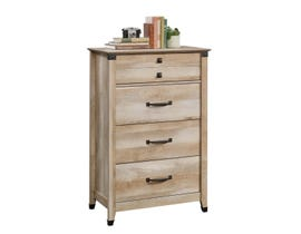 Sauder Carson Forge Collection 4-Drawer Chest in Lintal Oak 423035