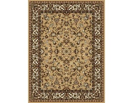 Midas 5X8 Area Rug in Light Brown/Ivory 4230-B0155